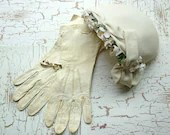 Vintage Gloves Hat and Pin - maggieorileys