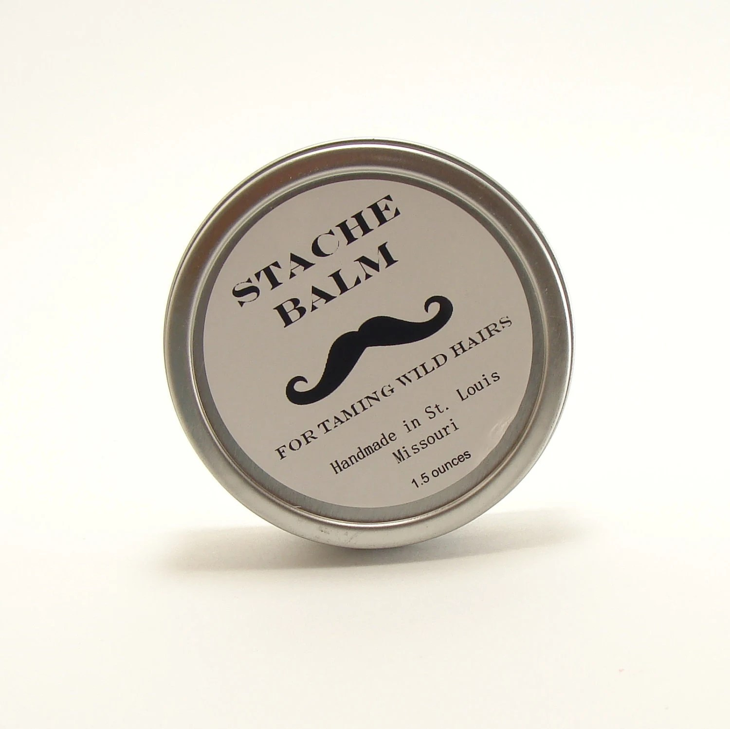 Mustache Stache Balm For Men Stache and Beard Conditioner  After Shave Skin Care Father's Day - ABreathOfFrenchAir