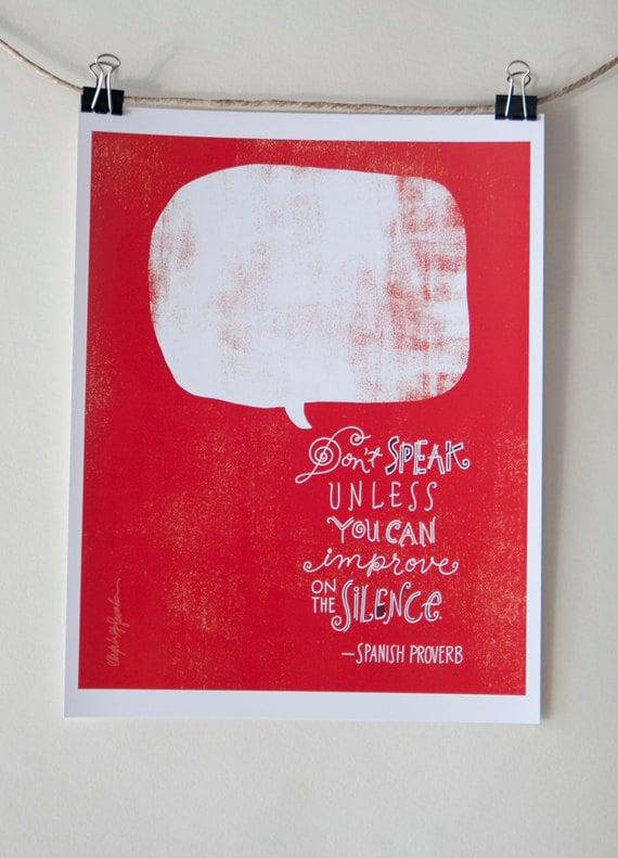 Spanish Proverb - Digital Print Mini Poster