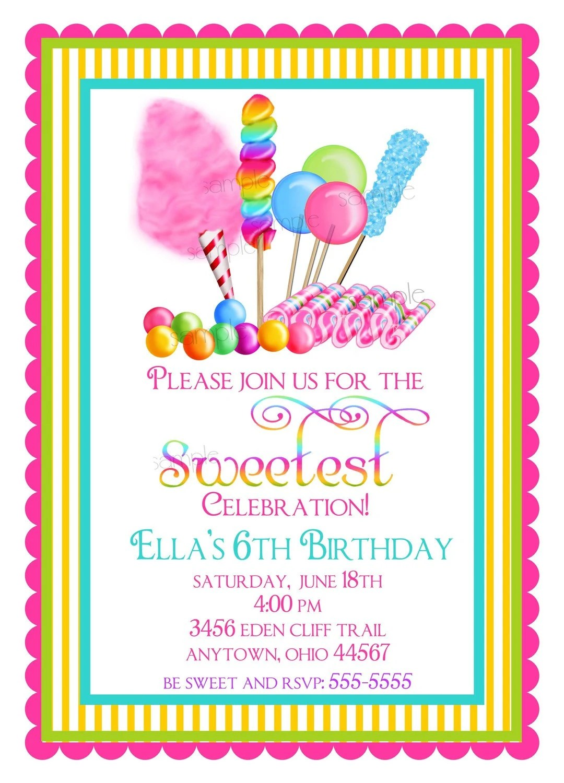 Candyland Invitation Ideas  Party Invitations Ideas