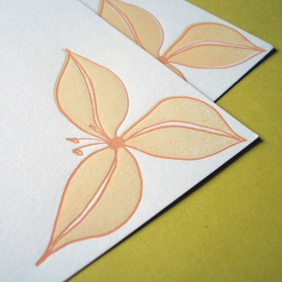 Trillium Flat Cards - set of 5 - paperdragonfly