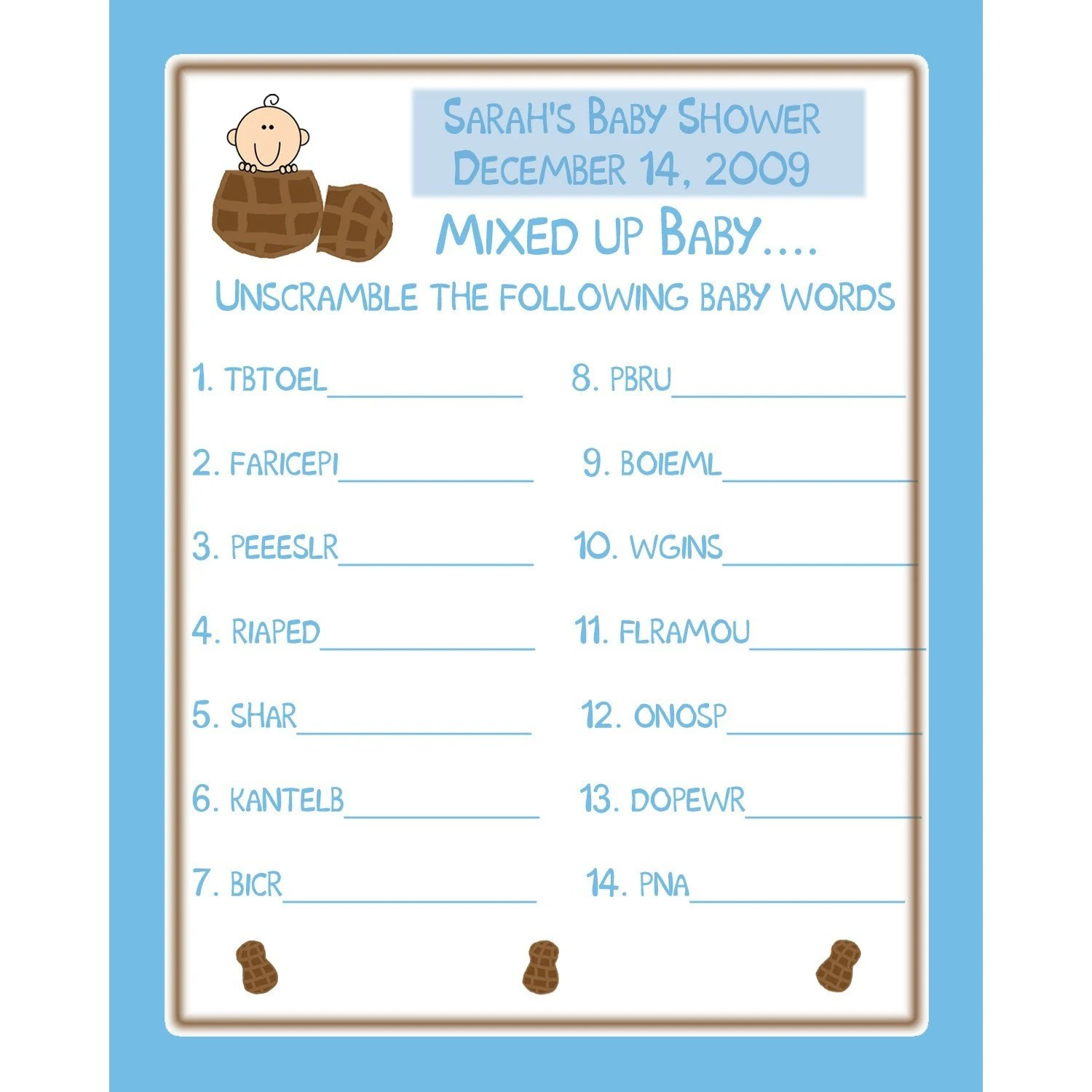 Download Unscramble Words Game For Bridal Shower Free