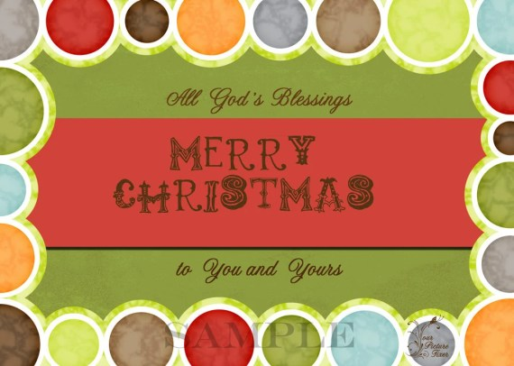 All of God's Blessings Christmas Card - YourPictureFixer