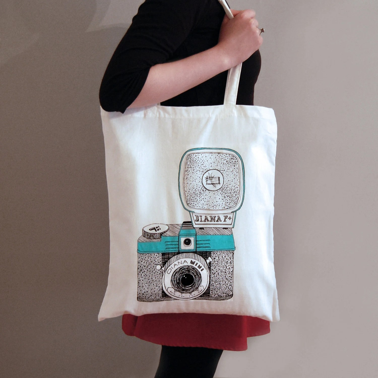 Diana Camera Tote Bag - cutcopycreate