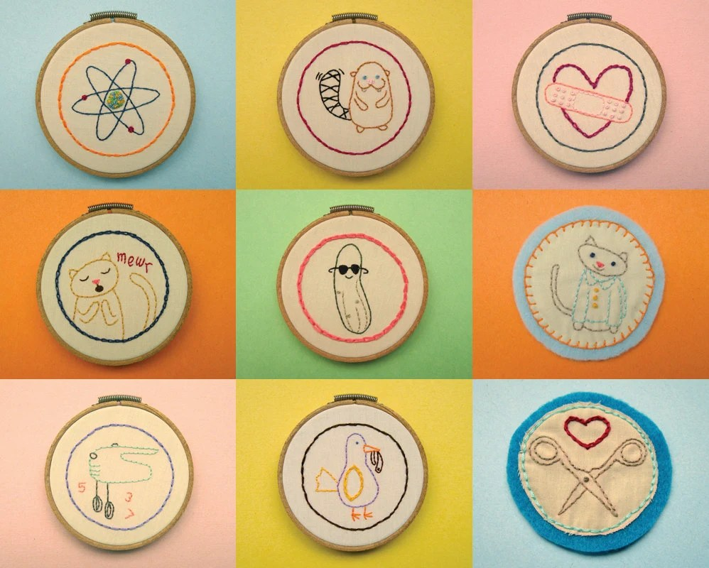 Merit Badges Mini Embroidery Patterns
