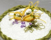 Tatted Lace Butterfly Garden Small Box -Little Miss Sunshine