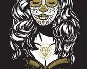 Day of the Dead / Día de Muertos - Front - 1 - Screen printed poster - eljefedesign
