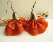 Spanish dancer earrings - Tangerine Orange Tango Earrings - Bridesmaid Earrings - Wedding Earrings - Fashion Earrings 2013 - MaryKCreation