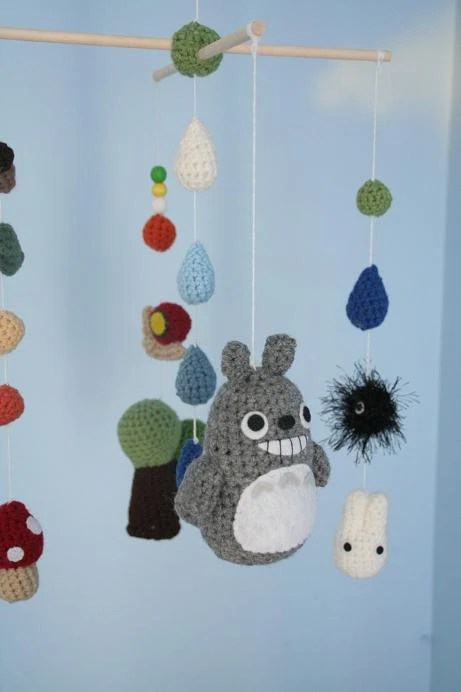 Crochet Totoro Nursery Mobile (Made-To-Order) Customizable