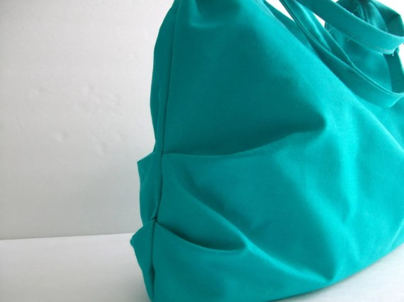 TURQOUISE HANDBAGS / blue purse / pleated bags / tote bag / spring and summer bags - Hashibags