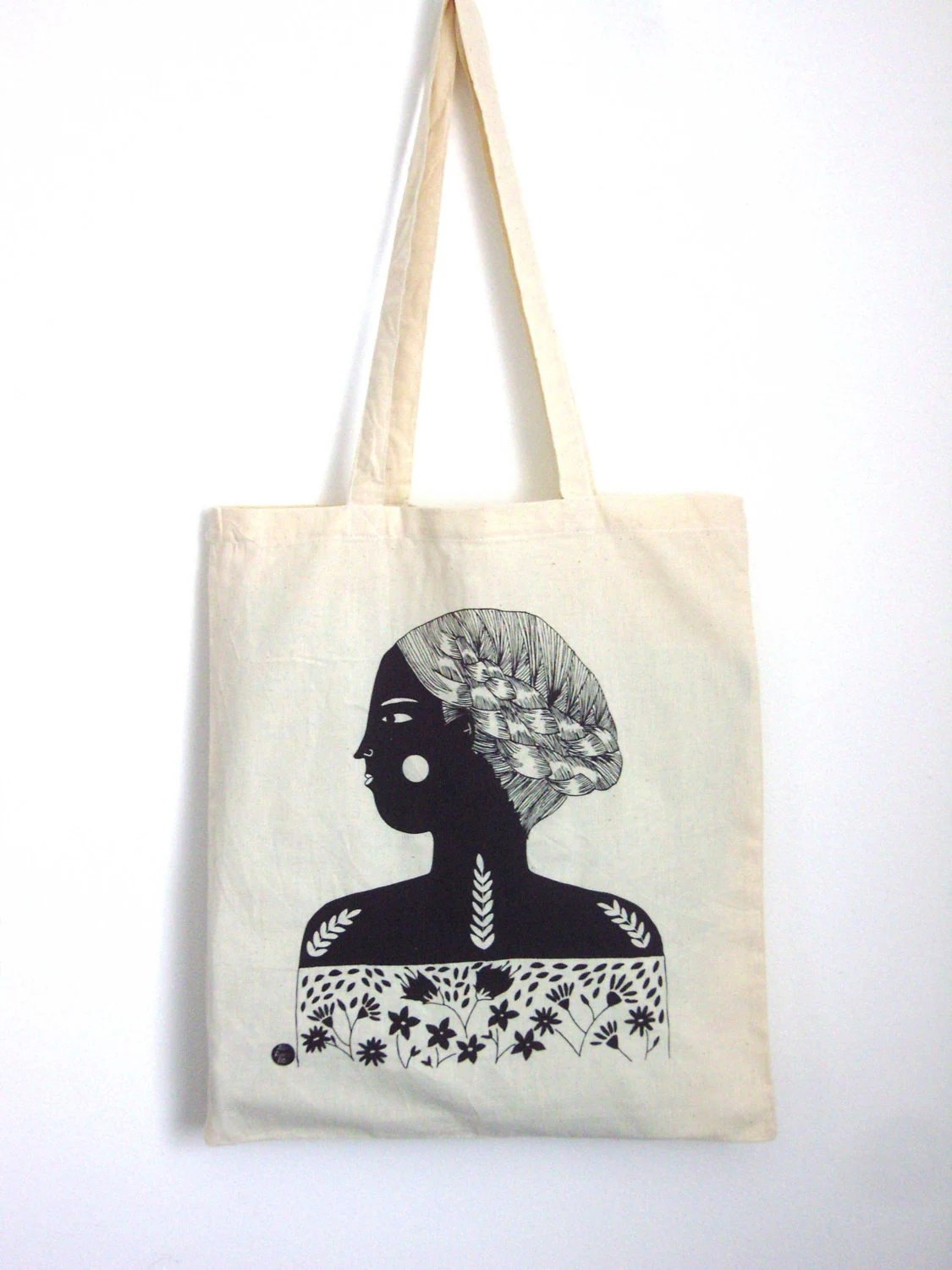 Girl Screen Printed Shopper Free UK Shipping