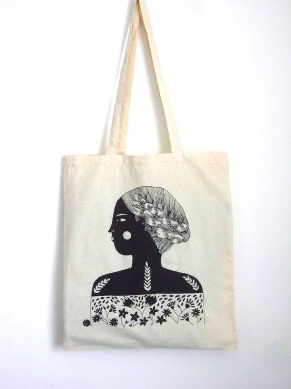 Girl Screen Printed Shopper Free UK Shipping