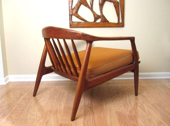 Danish Modern Walnut Lounge Chair Milo Baughman for Thayer Coggin - signed