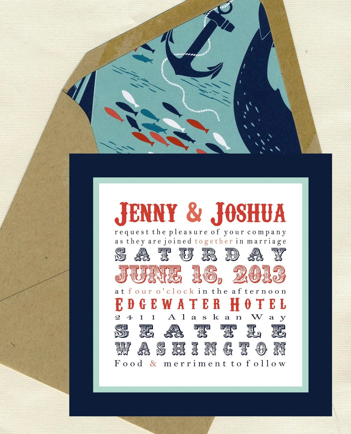 Jenny & Joshua Wedding Invitation Set