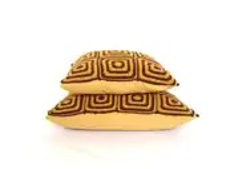"Crochet Cushion Pillow Covers set  ""Honey bee"" - 12'' and 15"" - zolayka"