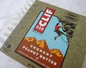 Upcycled Notebook/Recycled Notebook made from Clif Bar box (Crunchy Peanut Butter), 50 sheets/100 pages - IntrovertCreations