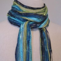 How To Make Ribbon Yarn Scarves