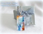 Extract from 'Coffee Break' v.1 - Slim Rectangle Glass Tile Necklace