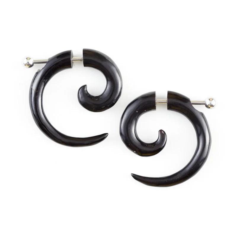 Sterling Silver Rings: Gauge Earringshorn Spiral Earrings