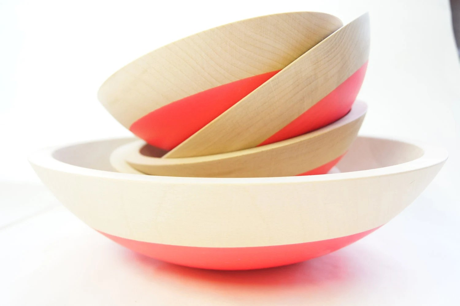 Neon dipped nesting bowls