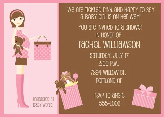Mom to Be Shower Invite