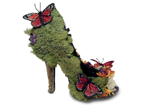 Sexy Eco Friendly Butterfly Garden Nature High Heel Pumps - MerloDesigns