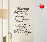 Art Home Decals: Lettering wall decal quote text in art