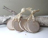 white birch wood tags -  set of 6 - urbanplusforest