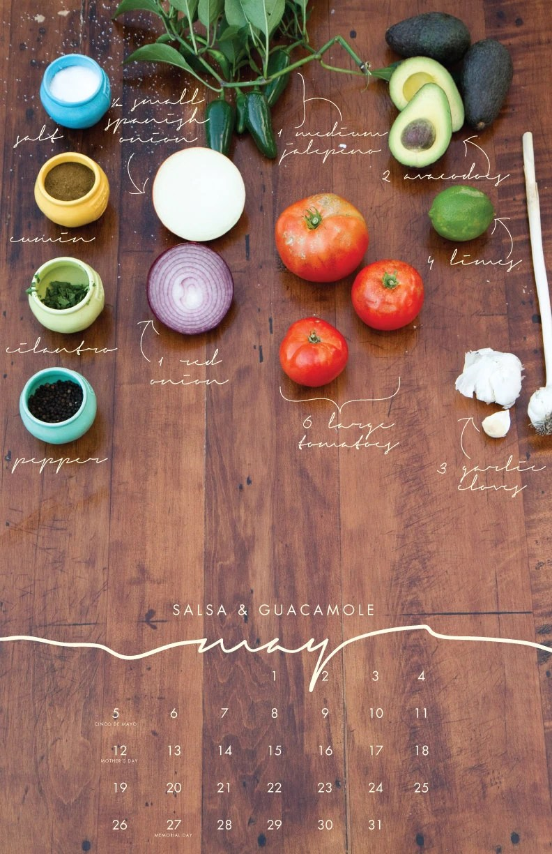 2013 Recipe Wall Calendar - Local/Seasonal Ingredients