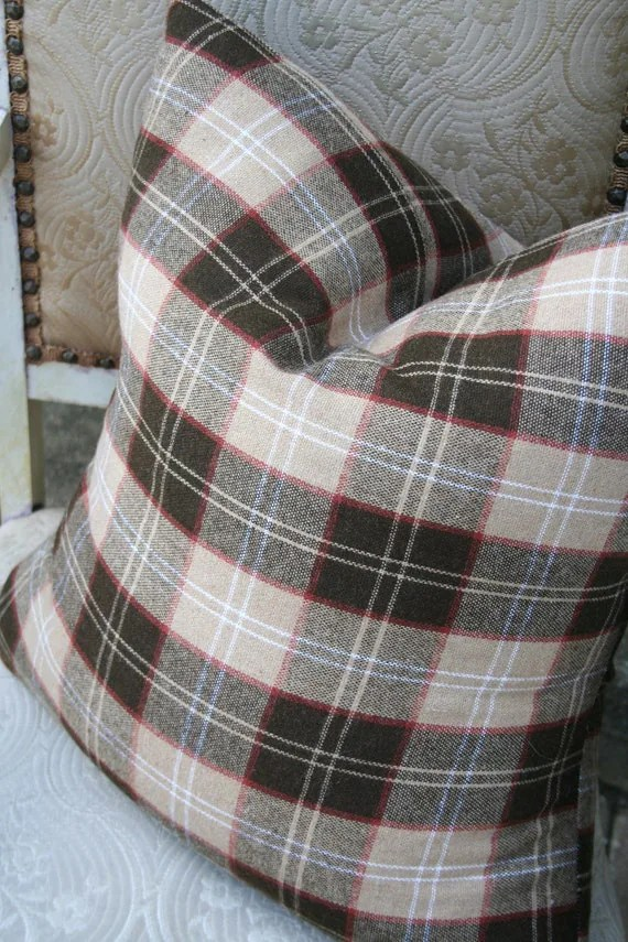 Rusty Plaid PILLOW COVERS - 14 or 16 inch