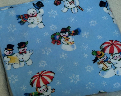 Snowman Flanel Blanket