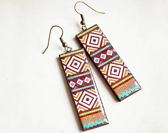 Tribal earrings - Autumn fashion - Lepun