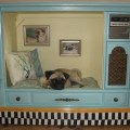 Large upcycled pet bed house from vintage tv shop closing tremendous