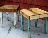 Pallet Wood Side Tables Handmade - PJsFurniture