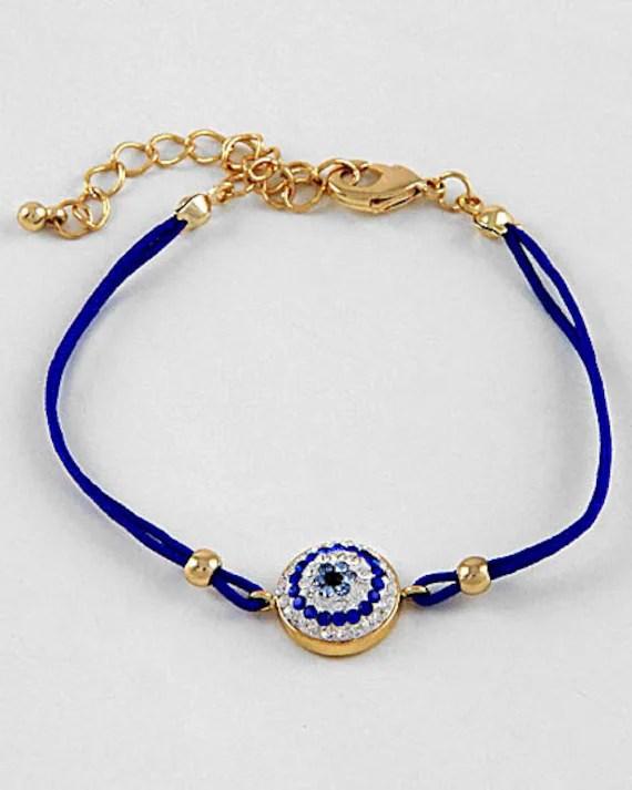 Blue Eye bracelet rhinestone