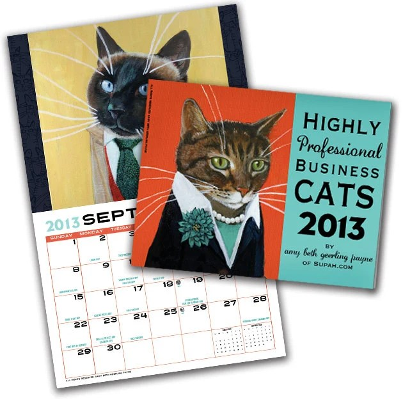 Business Cats Wall Calendar 2013