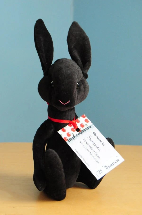Black Cashmere Bunny Etsy