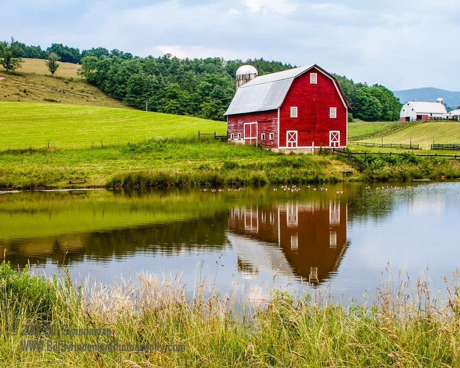 Red Barn Photograph - West Virginia Country Scene 8 x 10 On Sale - BillSwindamanPhoto