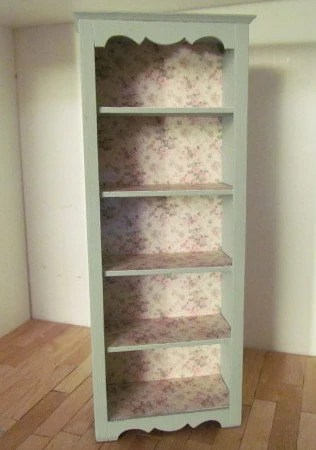Shabby Chic Dollhouse bookshelf 12th Scale - etagere Style 'Lenore'