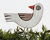 bird garden decor- garden art - garden decoration - plant stake - lawn ornament - plant marker - gardener gift -plant pot decoration - GVEGA