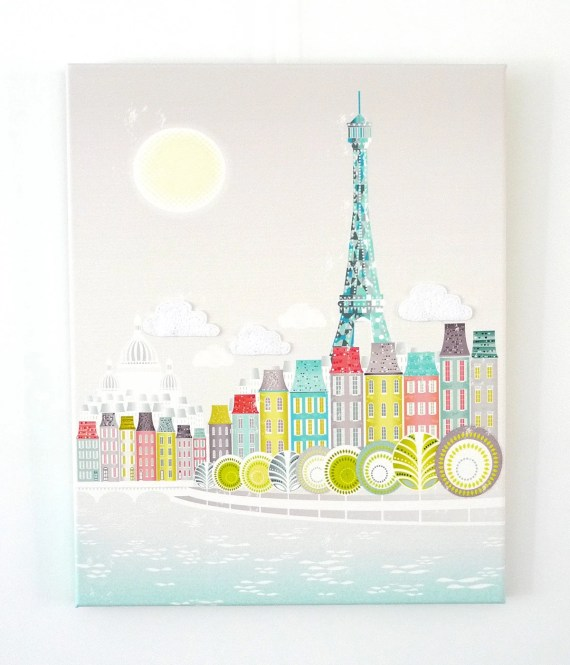 Paris, Eiffel Tower - Textiles Canvas Print - lauraamiss