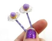 Purple Cupcake Bobby Pins - Glamour365