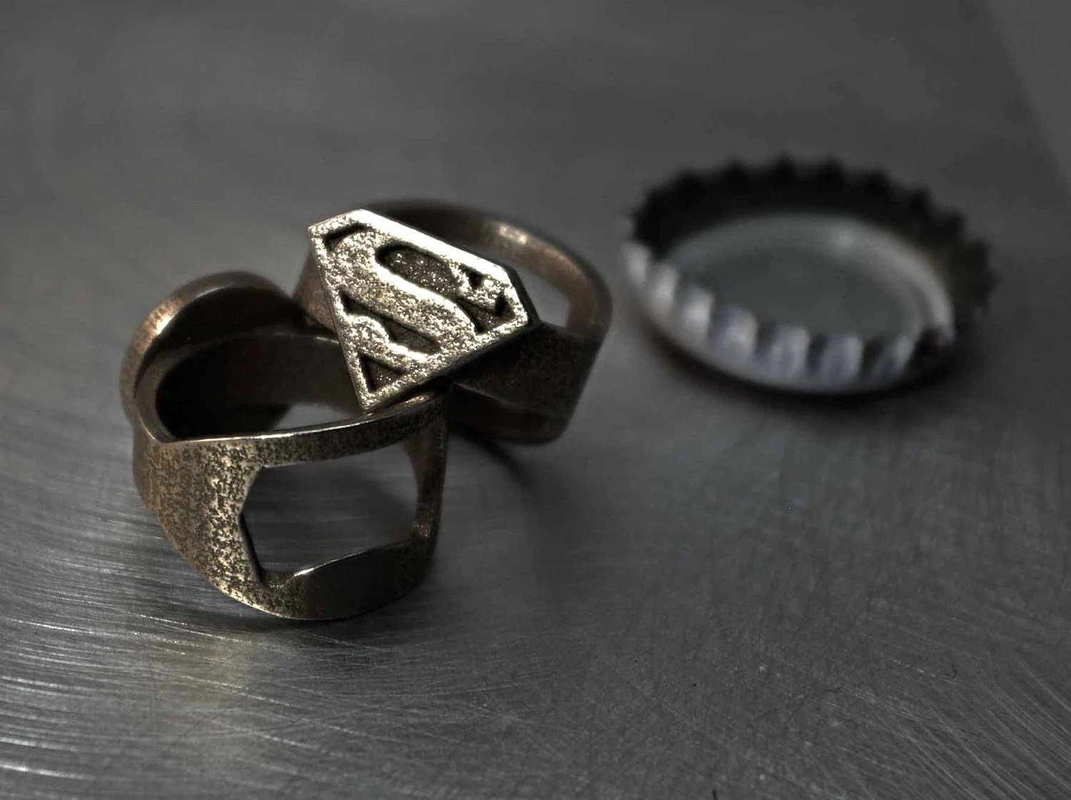 Superman + Bottle Opener Ring