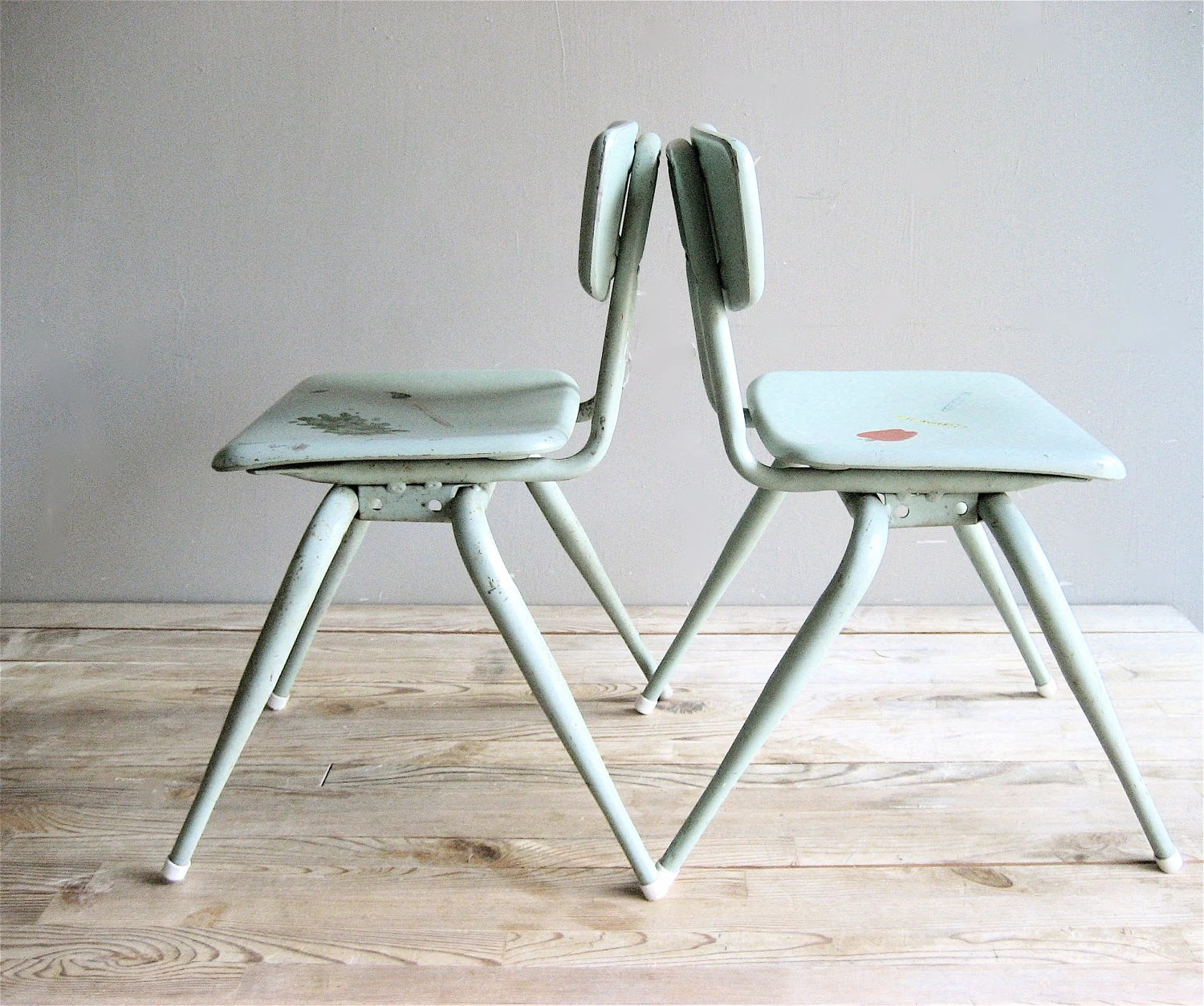RESERVED Vintage Pair Child's Chair - lovintagefinds