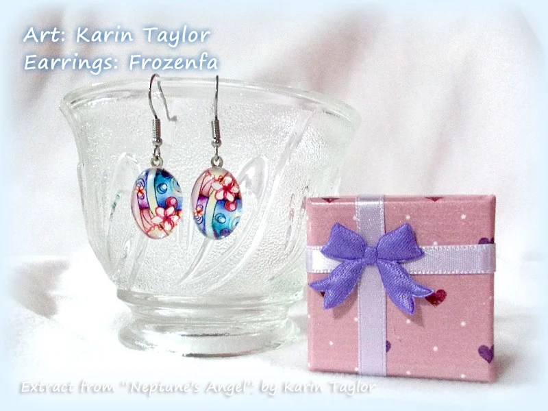 "Glass Earrings - Extract from ""Neptune's Angel"""