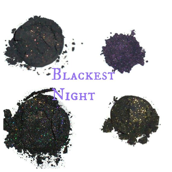 Blackest Night Black Mineral Eyeliner Glitter Eye Shadow Collection - MadeByMandikins
