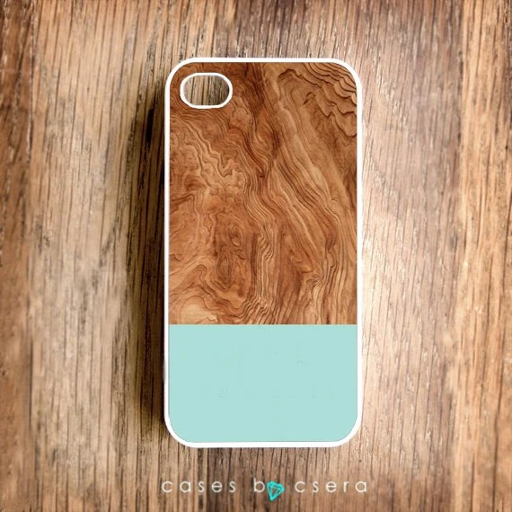 Wood iPhone Case, Handmade iPhone 4 Case, iPhone 4S Case Moss Green and Walnut Wood iPhone Case, iPhone 5 Cases Coming Soon