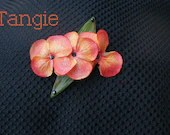 Orange Hair Accessory, Tropical Barrette Clip, Tropical Wedding, Barrette