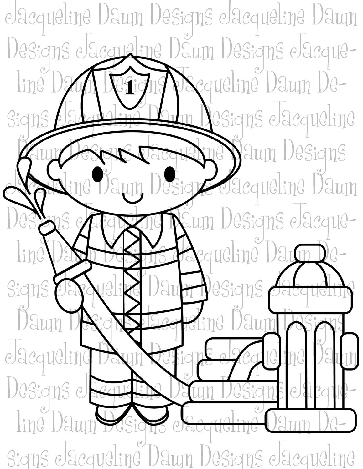 Firefighter Coloring