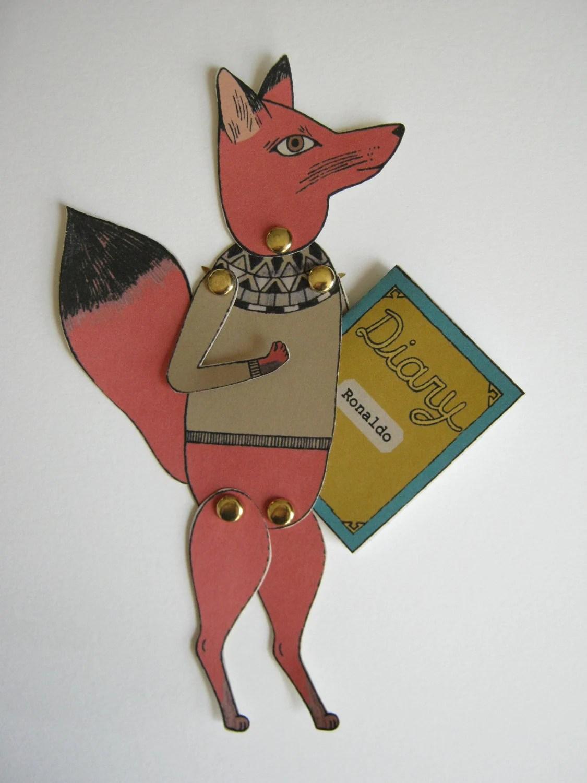 Ronaldo keeps a diary paper fox puppet